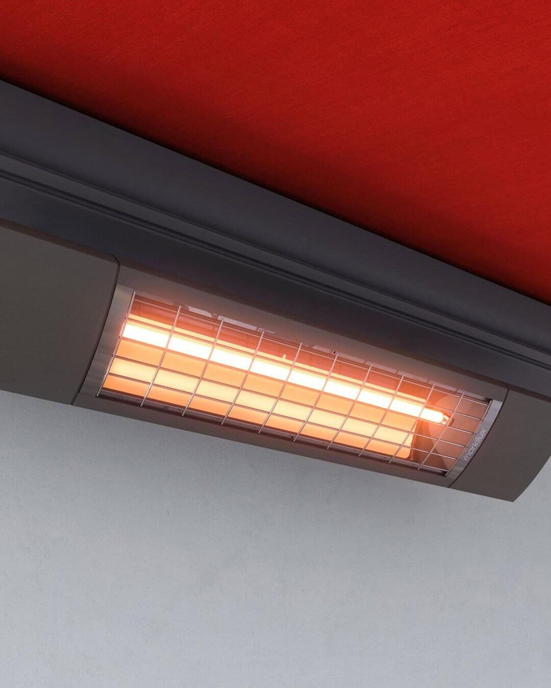 Обогреватель инфракрасный Алмак Ик-5, алюминиевый, под потолок, длина — 73 см, ширина — 16 см