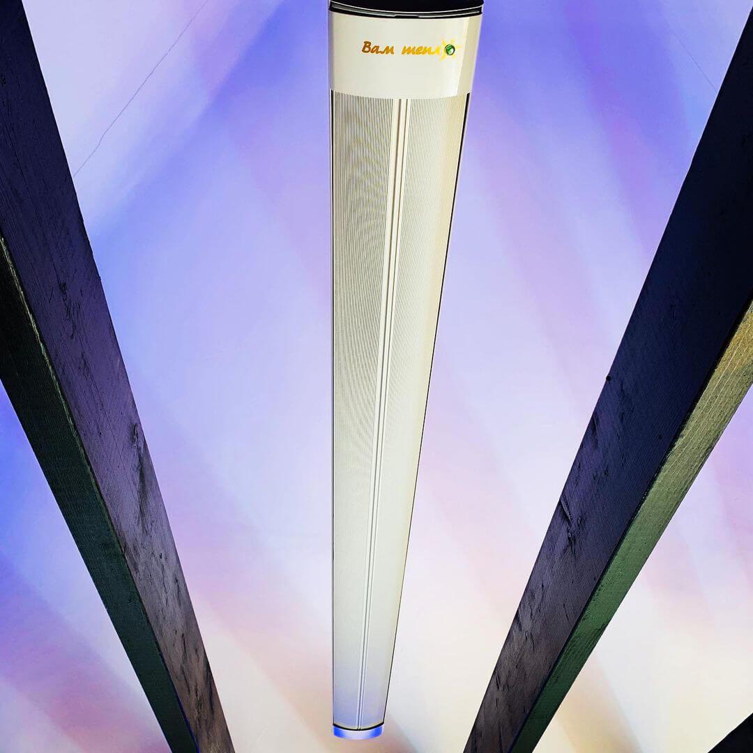 Обогреватель инфракрасный Пион Термоглас Керамика 13, вес — 5.9 кг, цвет — белый и бежевый, длина — 80 см