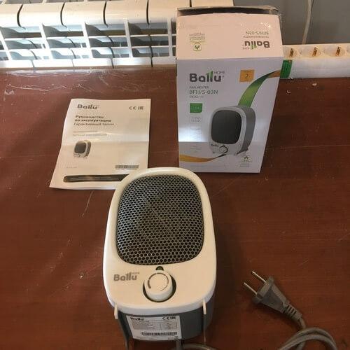 Комплектация тепловентилятора BALLU BFH/S-03N
