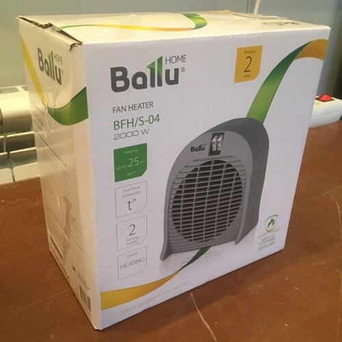 Упаковка тепловентилятора BALLU BFH/S-04