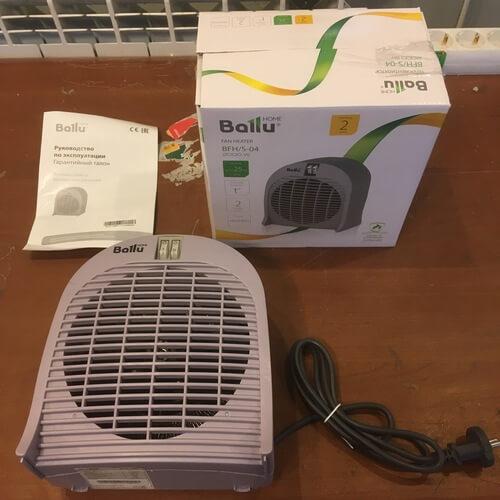 Комплектация тепловентилятора BALLU BFH/S-04