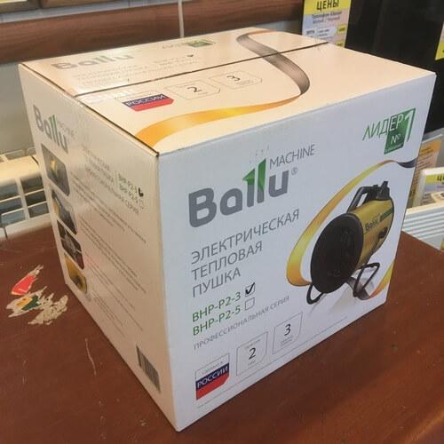 Упаковка электрической тепловой пушки BALLU BHP-P2-3