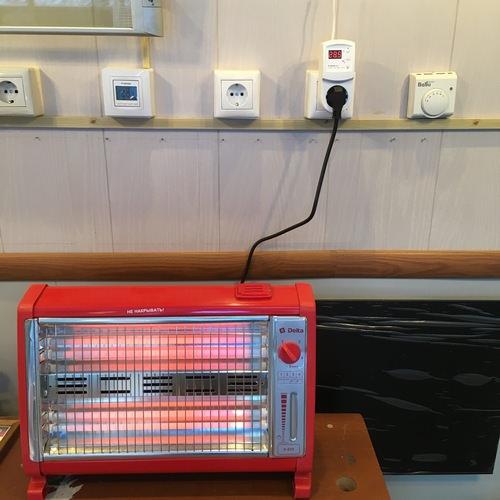 Обогреватель DELTA D-019 в работе с терморегулятором Terneo rz.