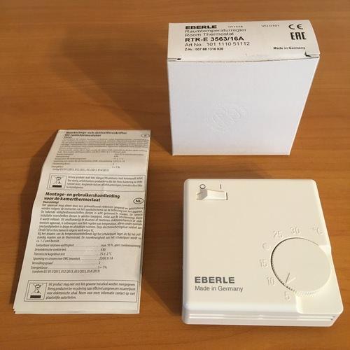 Комплектация терморегулятора Eberle RTR – E3563
