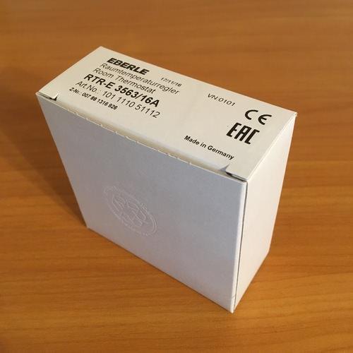 Упаковка терморегулятора Eberle RTR – E3563.