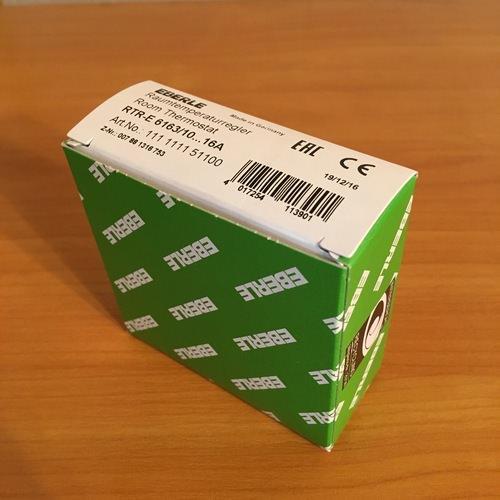 Упаковка терморегулятора Eberle RTR – E6163.