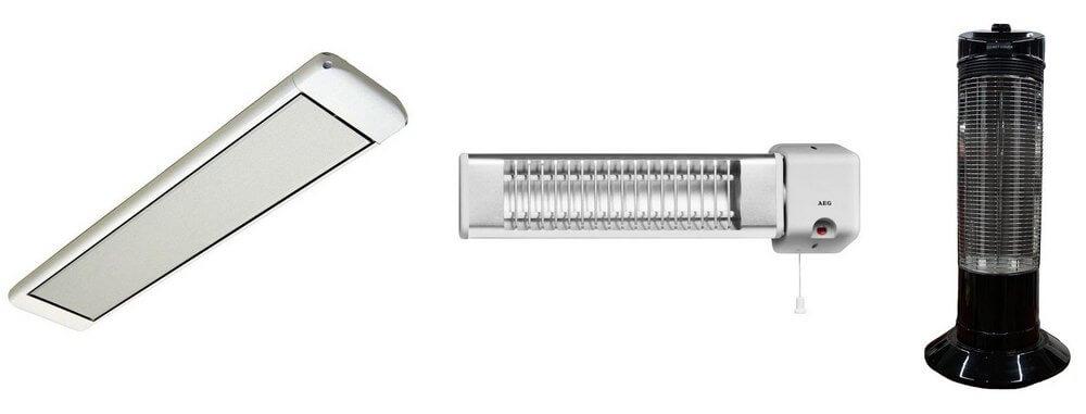 Инфракрасные электрообогреватели по типу установки