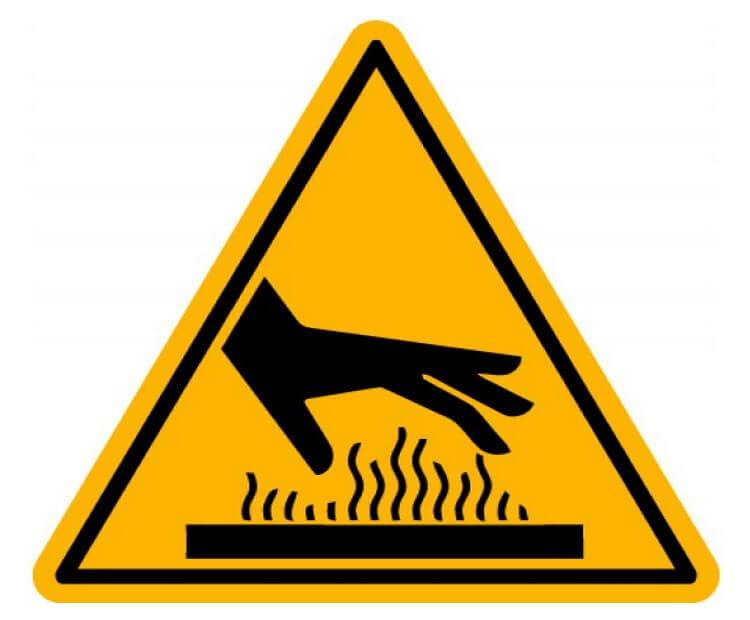 Температура поверхности инфракрасных нагревателей