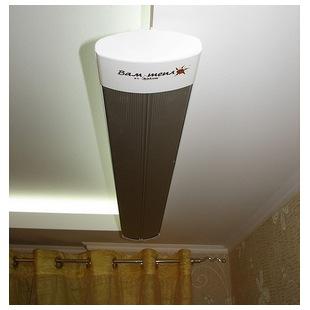 Отопление комнаты инфракрасным потолочным обогревателем ПИОН Керамик 08
