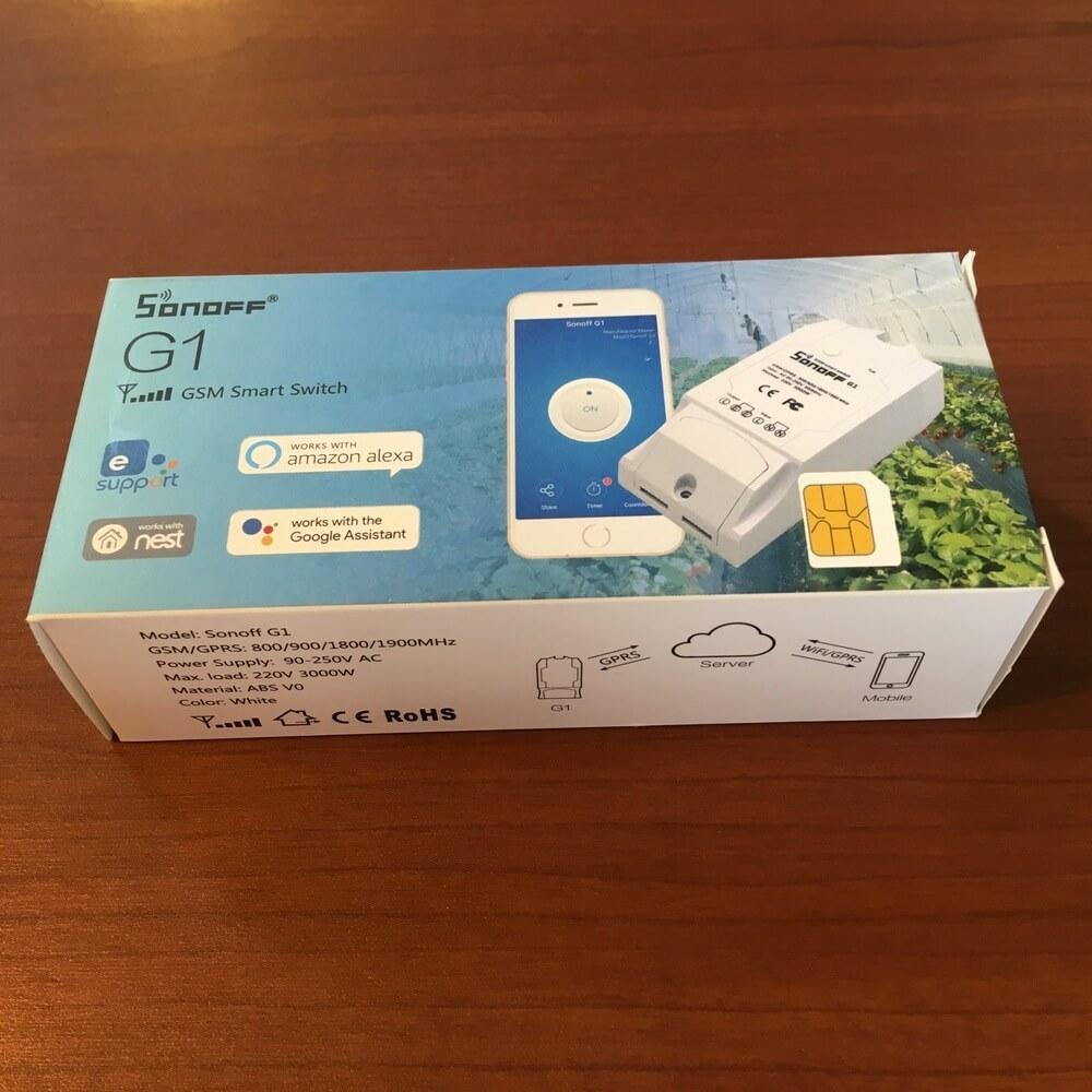 Упаковка Sonoff G1 (GPRS/GSM реле)
