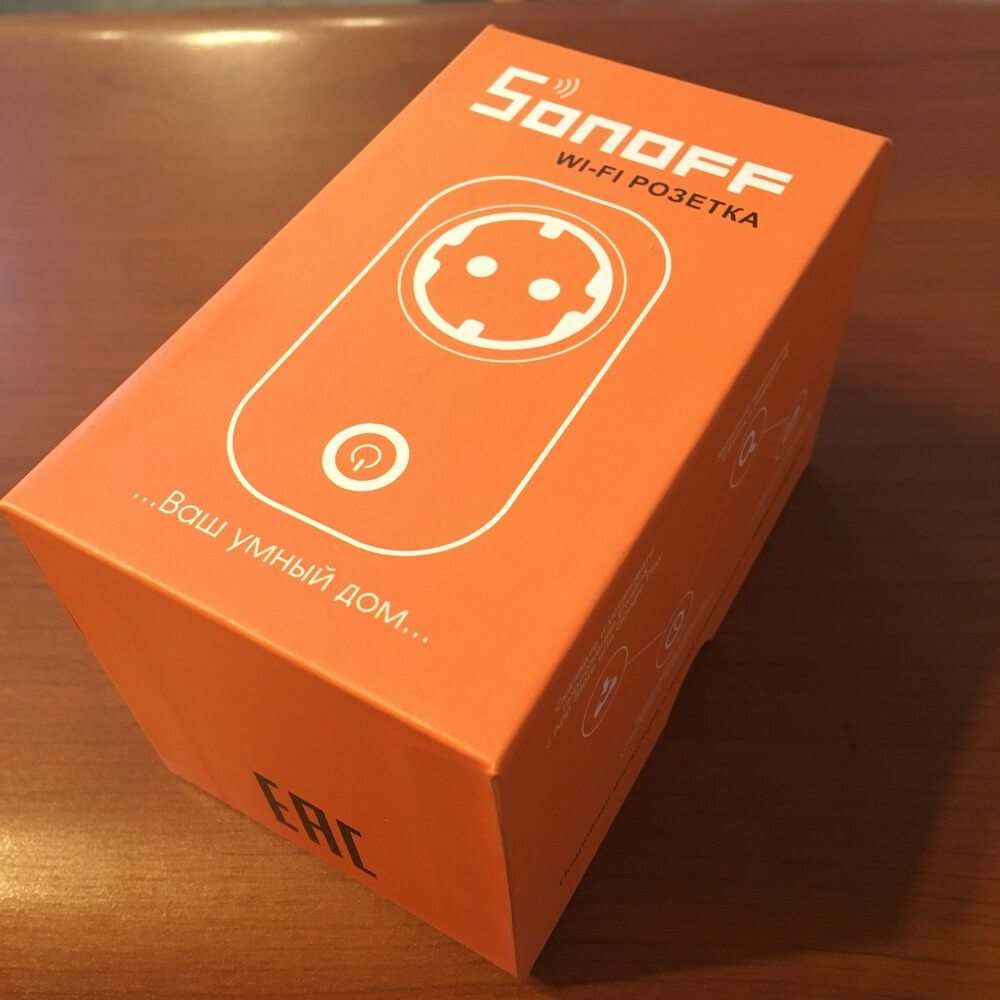 Упаковка Wi-Fi Розетки Sonoff Socket