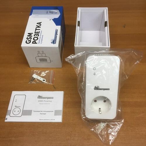 Комплектация GSM терморегулятора (GSM розетка) Телеметрика Т4