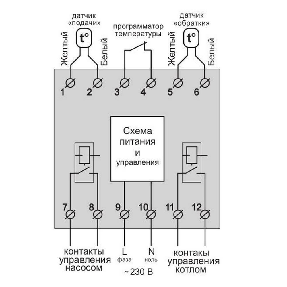 Схема подключения Terneo BeeRT