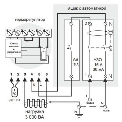 Подключение автоматического выключателя и УЗО