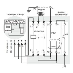 Подключение терморегулятора Terneo vt через магнитный пускатель