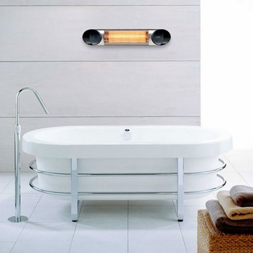 Карбоновый обогреватель Veito Blade Mini в ванной